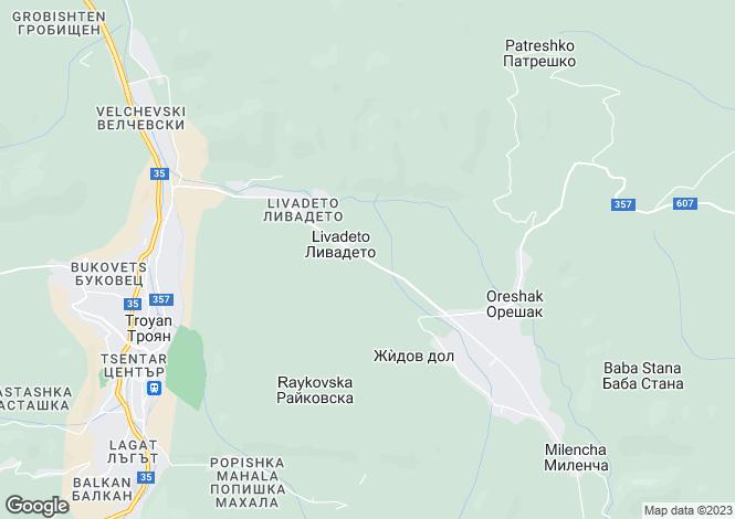 Map for Oreshak, Lovech