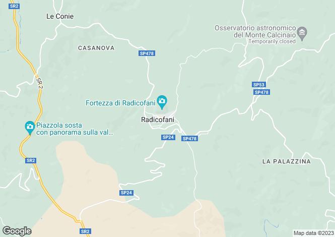 Map for Tuscany, Siena, Radicofani