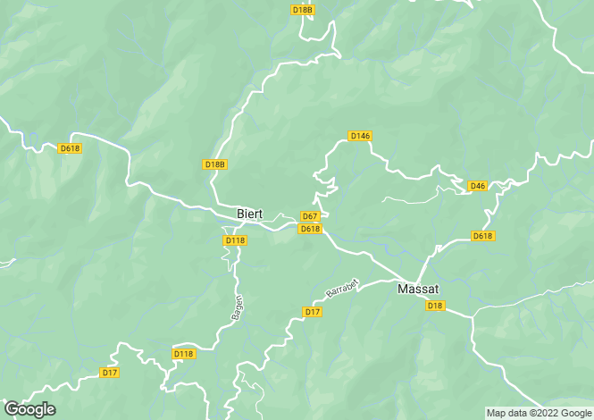 Map for biert, Ariège, France