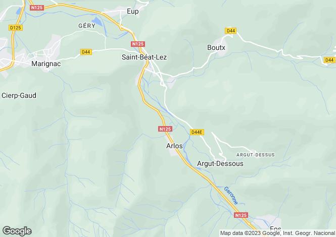 Map for arlos, Haute-Garonne, France