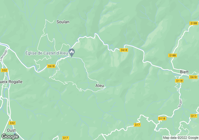 Map for aleu, Ariège, France