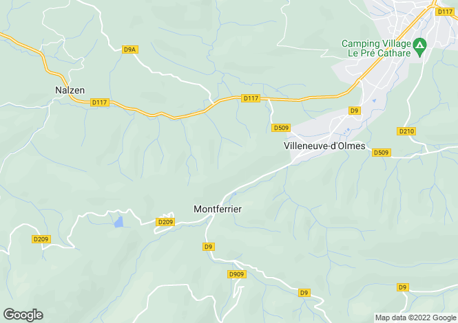 Map for MONTFERRIER, Perpignan Area, Languedoc,