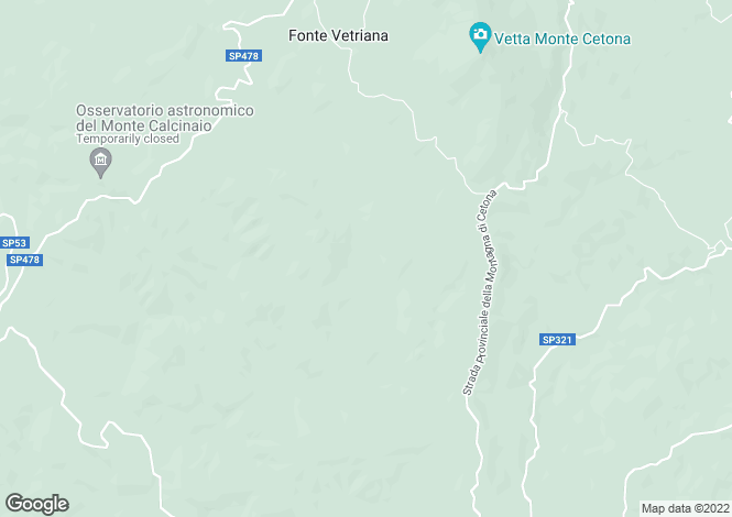 Map for Tuscany, Siena, San Casciano dei Bagni