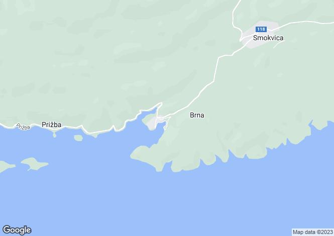 Map for Brna, Dubrovnik-Neretva