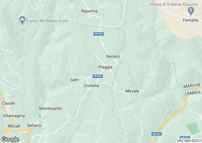 Map for Sellano, Perugia, Umbria