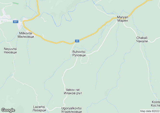 Map for Elena, Veliko Tarnovo