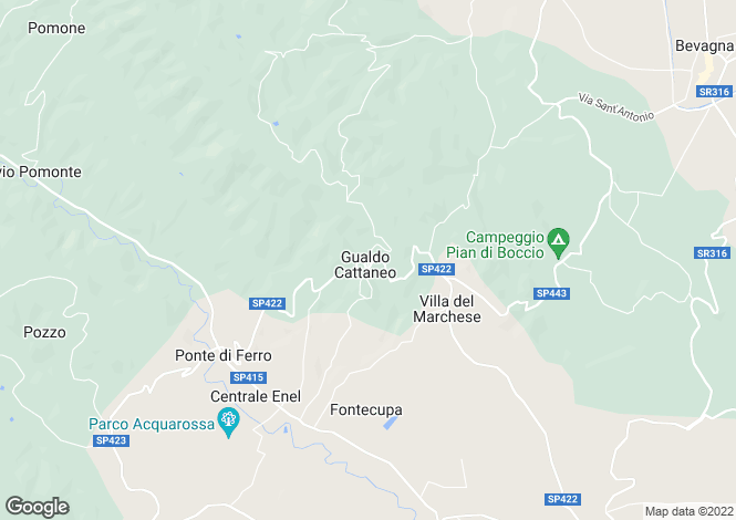 Map for Umbria, Perugia, Gualdo Cattaneo