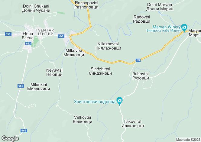 Map for Veliko Tarnovo, Elena