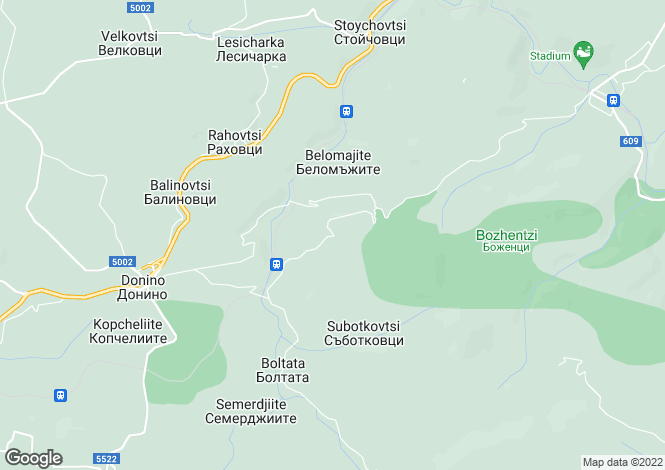 Map for Gabrovo, Dryanovo