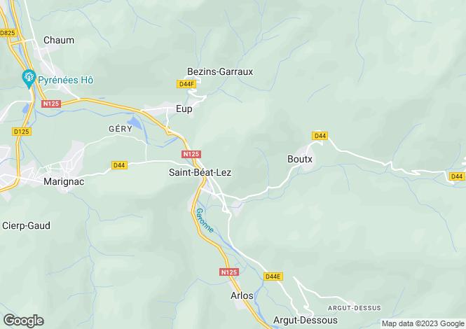 Map for lez, Haute-Garonne, France
