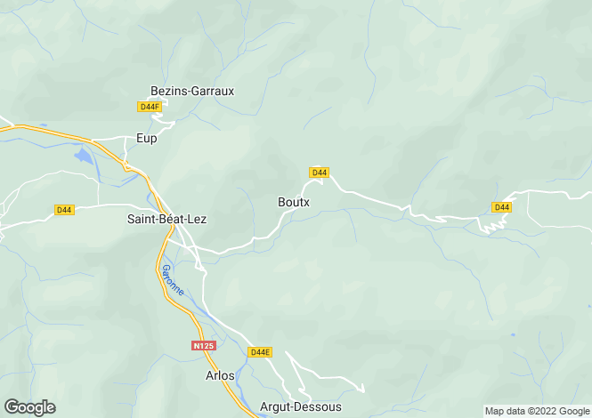 Map for boutx, Haute-Garonne, France