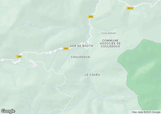 Map for Midi-Pyrénées, Ariège, Couledoux