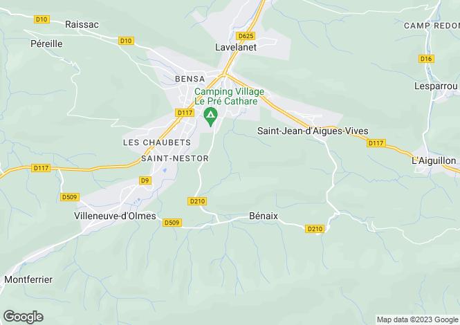 Map for benaix, Ariège, France