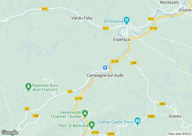 Map for Campagne-sur-Aude, Aude, Languedoc-Roussillon