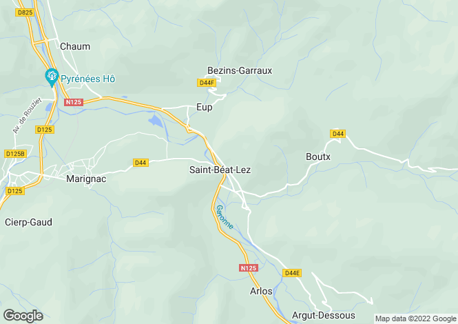 Map for st-beat, Haute-Garonne, France