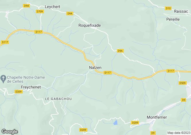 Map for Nalzen, Midi-Pyrenees, 09300, France