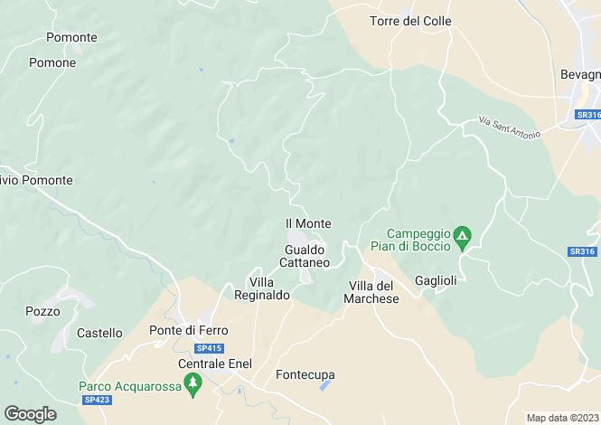 Map for Umbria, Perugia, Gualdo Cattaneo