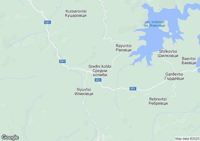 Map for Sredni Kolibi, Veliko Tarnovo