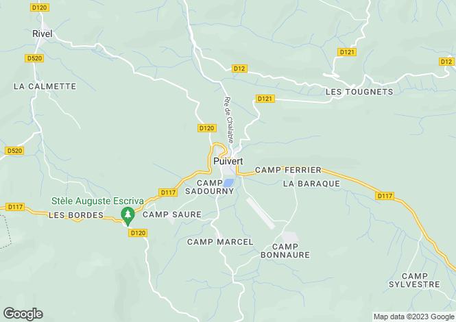 Map for Secteur: Puivert, Aude