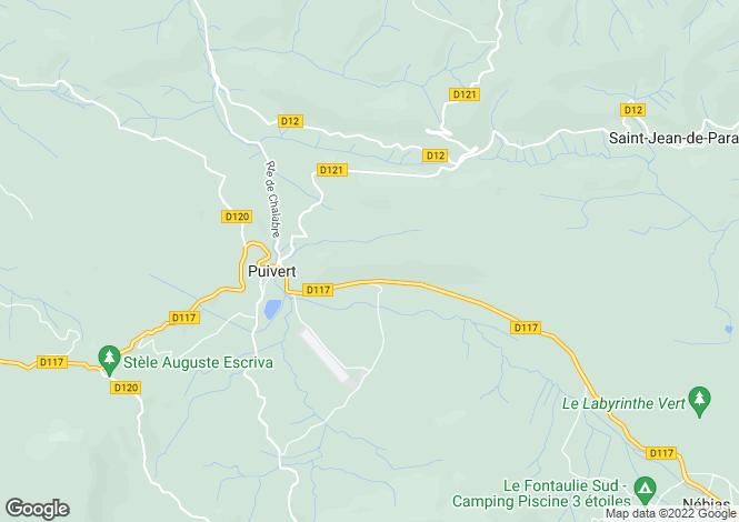 Map for Languedoc-Roussillon, Aude, Puivert