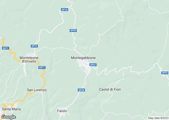 Map for Monteleone d`Orvieto, Terni, Umbria