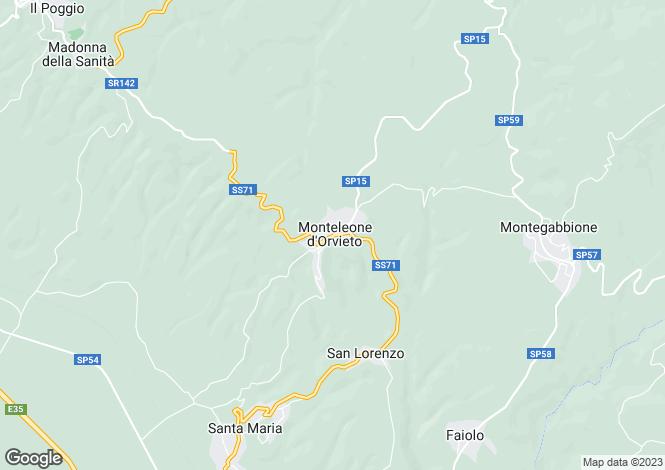 Map for Monteleone D'orvieto, Umbria, Italy