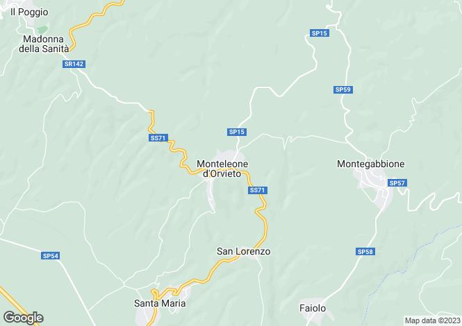 Map for Italy - Umbria, Terni, Monteleone d`Orvieto