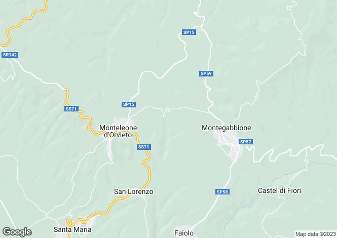 Map for Terni, Terni, Umbria