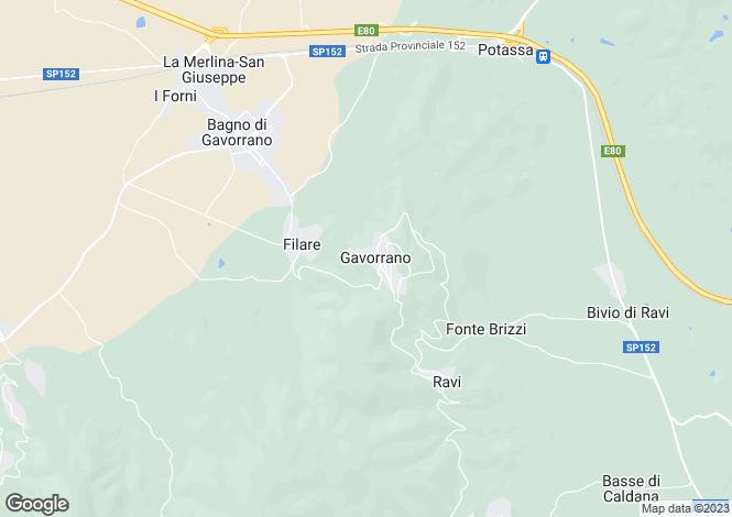 Map for Tuscany, Grosseto, Gavorrano