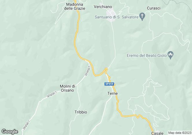 Map for Foligno, Perugia, Umbria