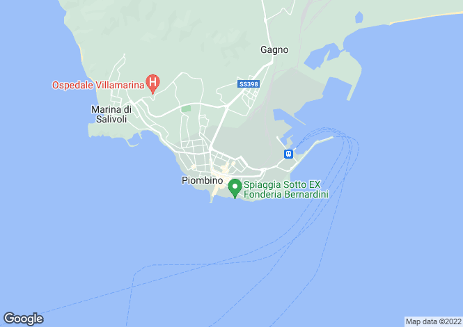 Map for Piombino, Livorno, Tuscany