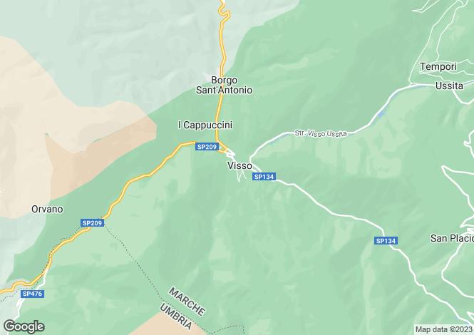 Map for Visso
