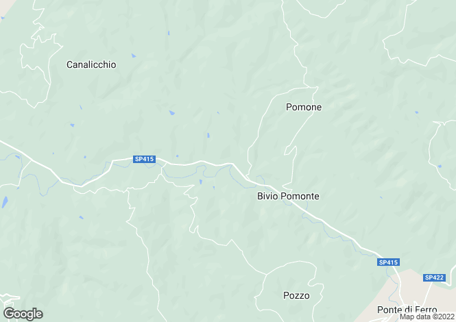 Map for Italy - Umbria, Perugia, Gualdo Cattaneo