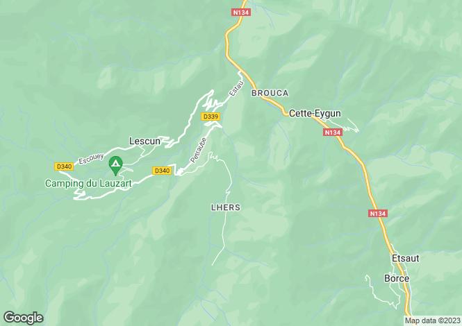 Map for lescun, Pyrénées-Atlantiques, France