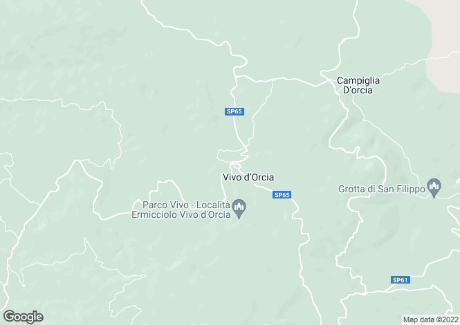 Map for Tuscany, Siena, Castiglione d`Orcia