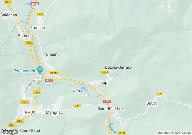 Map for Midi-Pyrénées, Haute-Garonne, Eup