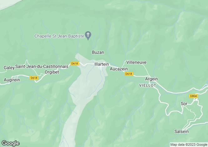 Map for Midi-Pyrénées, Ariège, Illartein