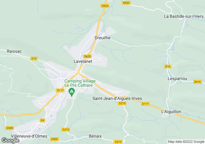Map for Midi-Pyrenees, Ariège, Lavelanet