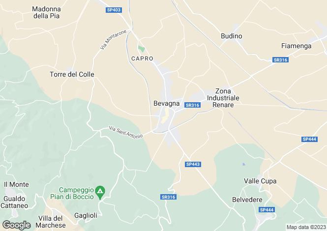 Map for Bevagna, Perugia, Umbria