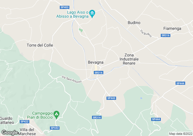Map for Bevagna, Perugia, Italy
