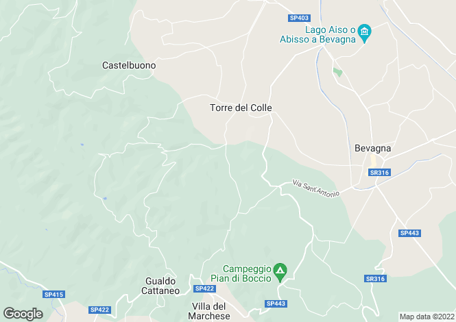 Map for Umbria, Perugia, Bevagna
