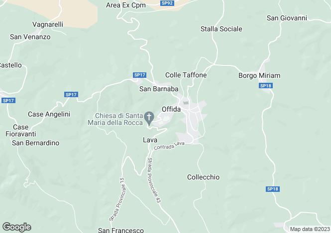 Map for Italy - Le Marche, Ascoli Piceno, Offida