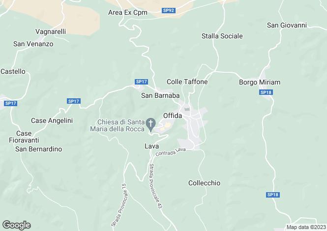 Map for Offida, VIA SAN MICHELE