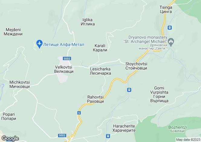 Map for Lesicharka, Gabrovo