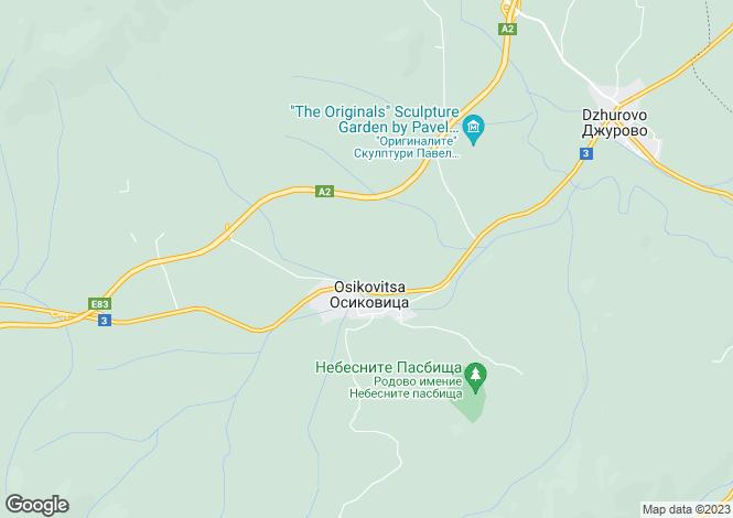 Map for Osikovitsa, Sofiya