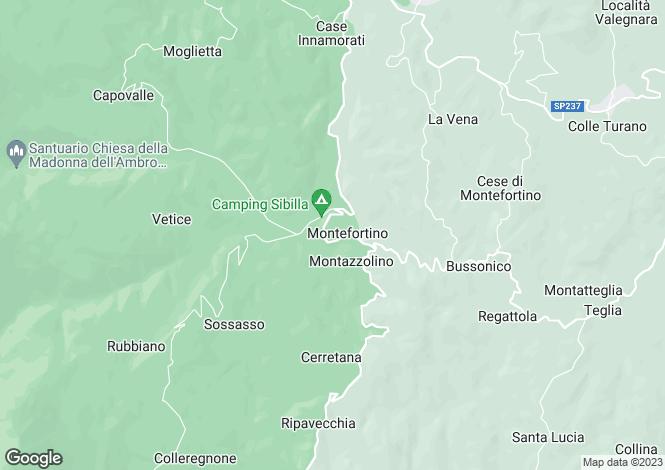 Map for Le Marche, Fermo, Montefortino