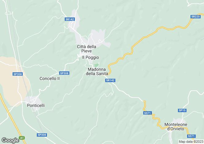 Map for Città della Pieve, Perugia, Umbria