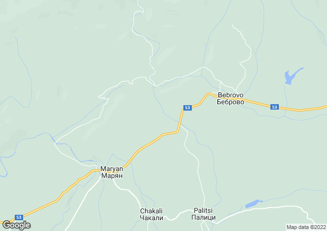 Map for Elena, Veliko Tarnovo