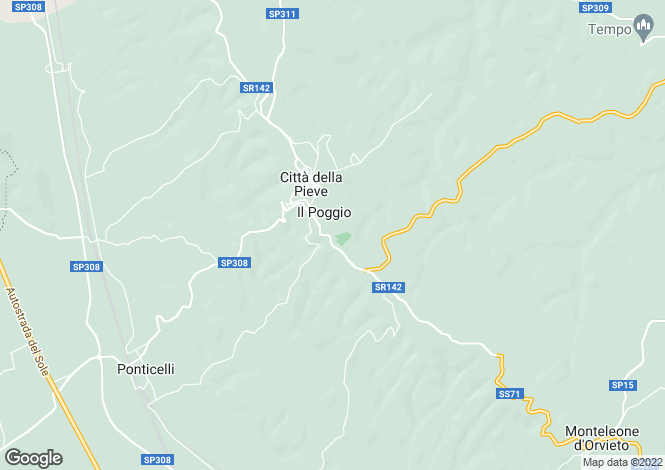 Map for Umbria, Perugia, Citt� della Pieve