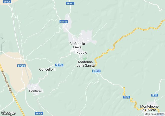 Map for Citta della Pieve,Italy
